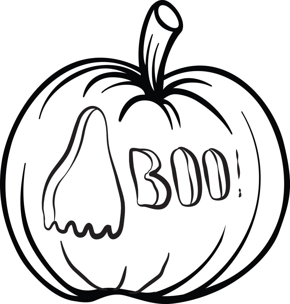 FREE Printable Pumpkin Coloring Page for Kids #2 - SupplyMe