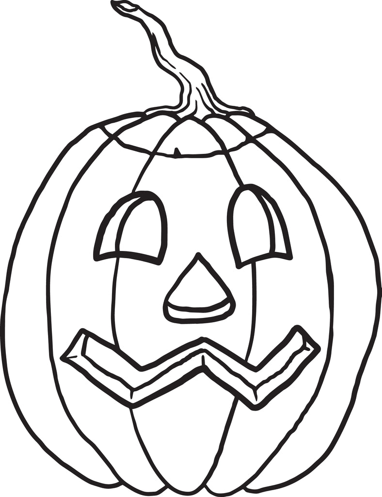 FREE Printable Pumpkin Coloring Page for Kids