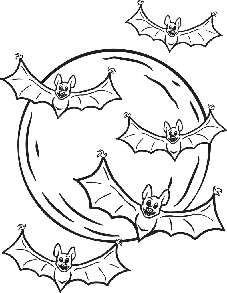 It's just an image of Versatile Bats Coloring Pages