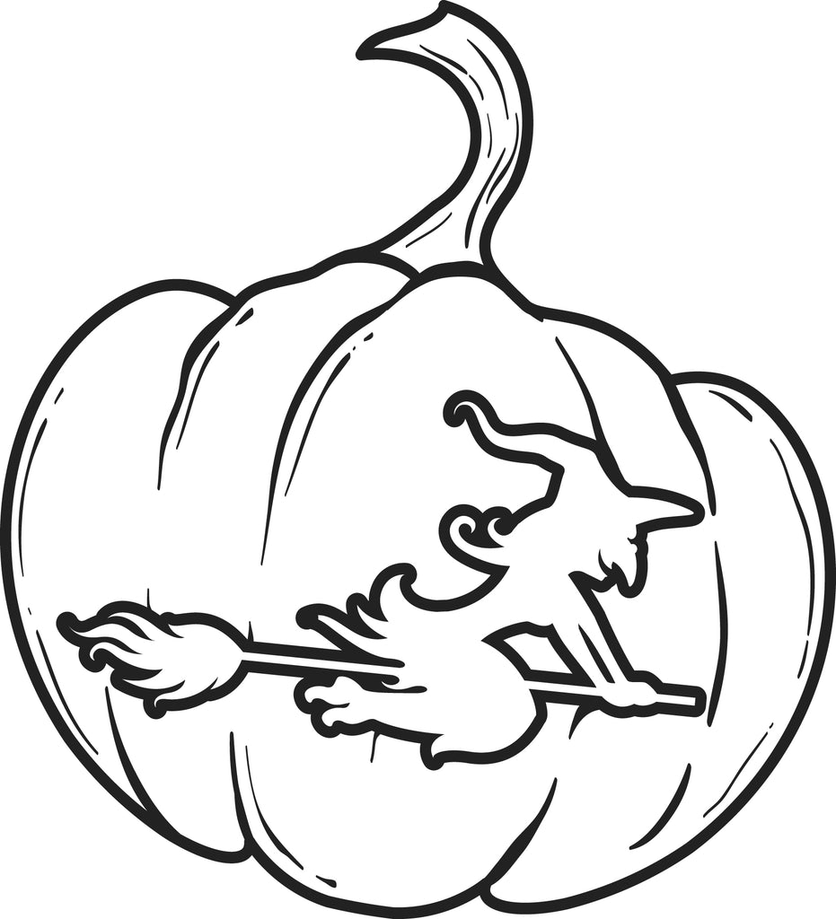 Printable Pumpkin Coloring Page for Kids #4 - SupplyMe