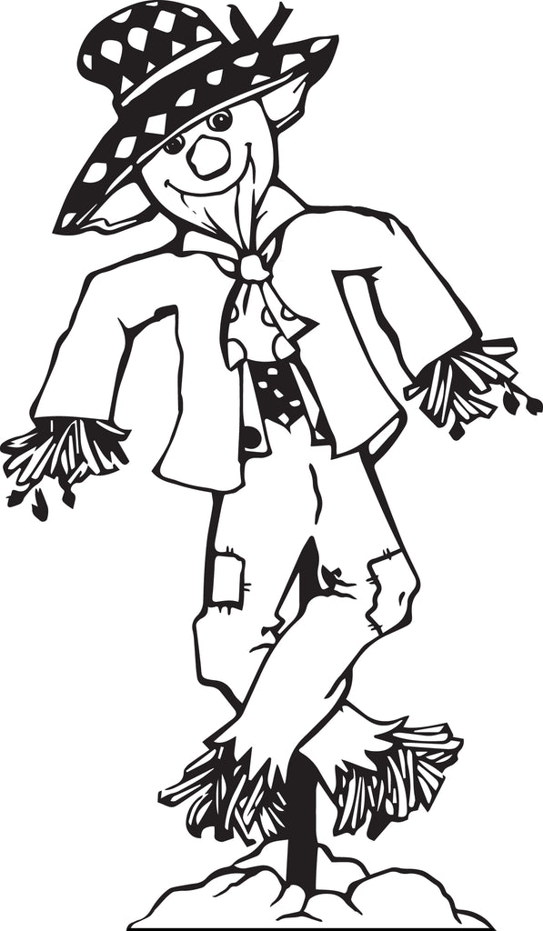 image relating to Printable Scarecrow Coloring Pages titled Absolutely free Printable Scarecrow Coloring Site for Small children #2 SupplyMe