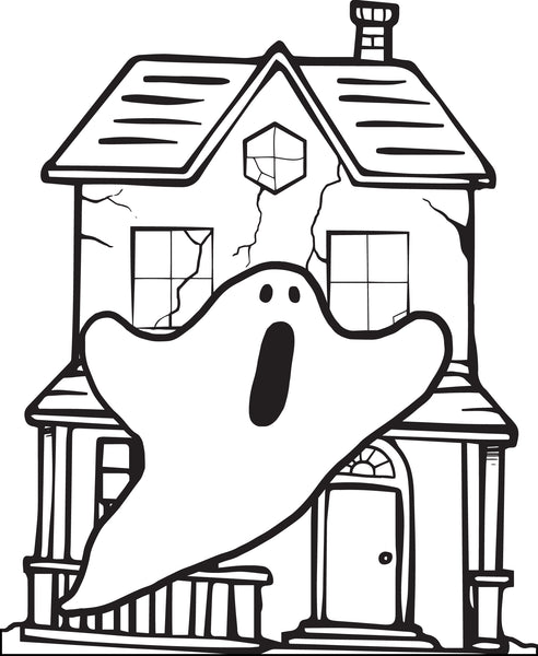 - Printable Halloween Haunted House Coloring Page For Kids #1 – SupplyMe