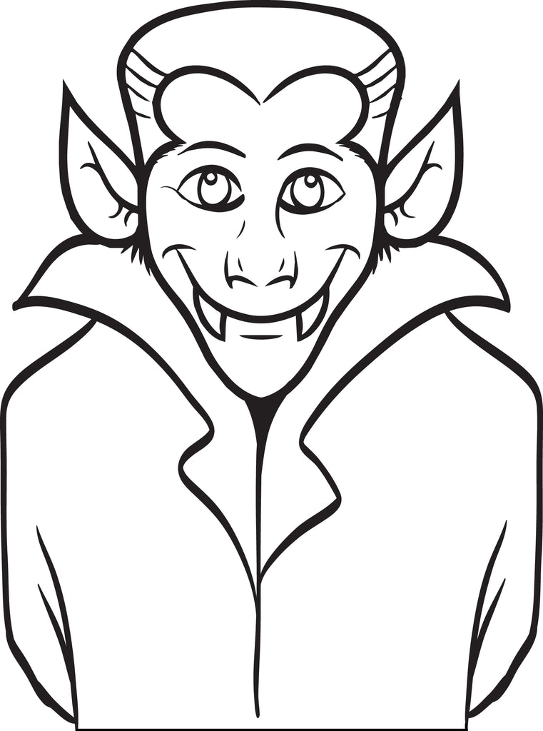 FREE Printable Dracula Coloring Page for Kids