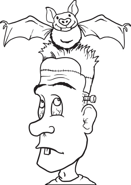 FREE Printable Frankenstein Coloring Page for Kids #3
