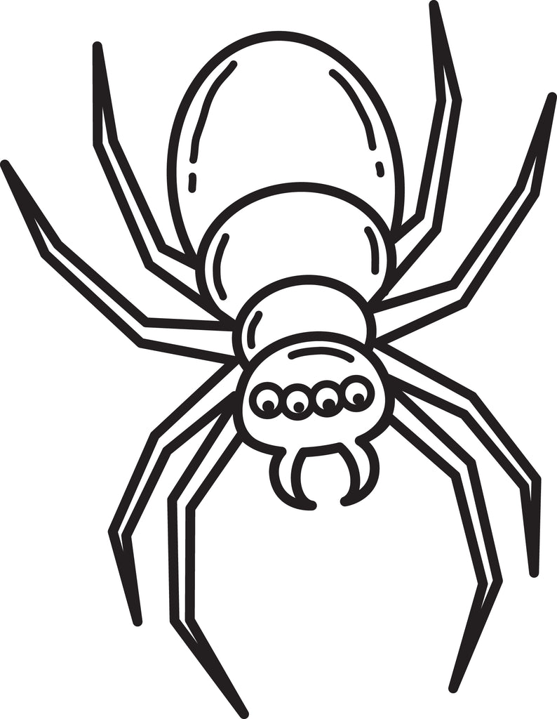 FREE Printable Halloween Spider Coloring Page for Kids #3
