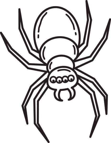 Printable Halloween Spider Coloring Page for Kids #3