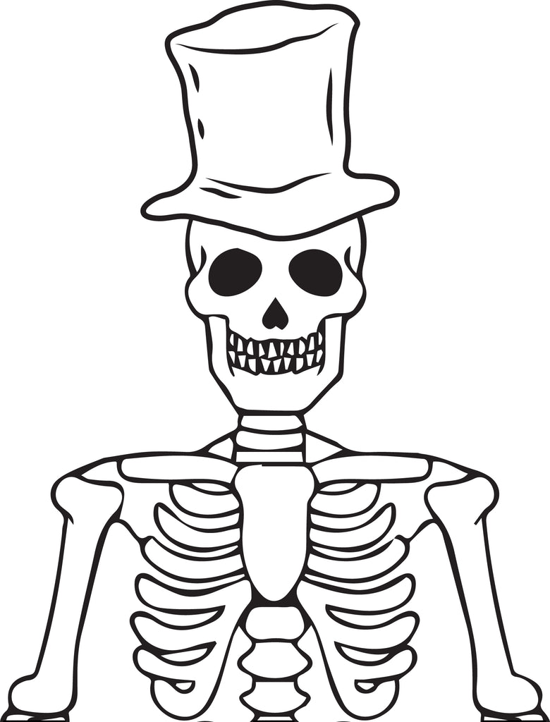 - Printable Halloween Skeleton Coloring Page For Kids #1 – SupplyMe