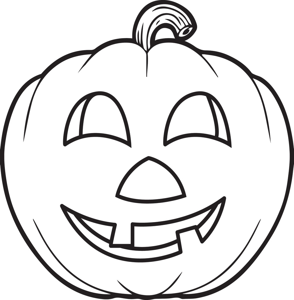 FREE Printable Pumpkin Coloring Page for Kids #5 - SupplyMe
