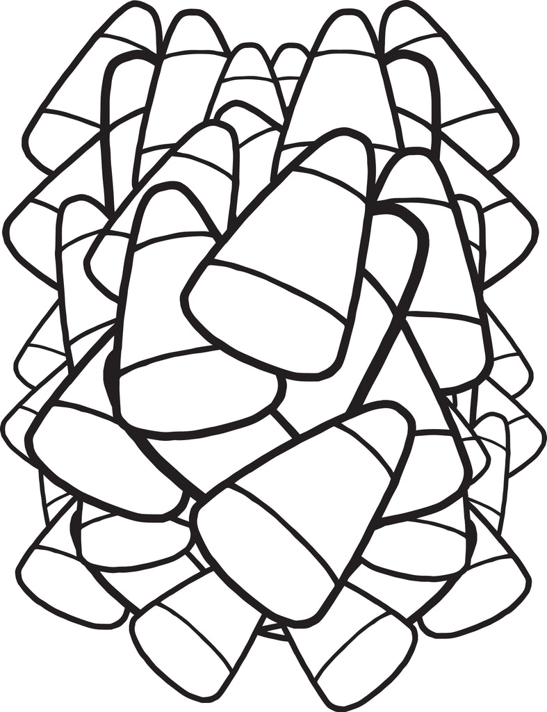 FREE Printable Candy Corn Coloring Page for Kids SupplyMe