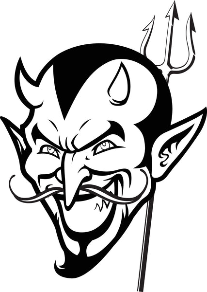 Printable Devil Coloring Page for Kids #2