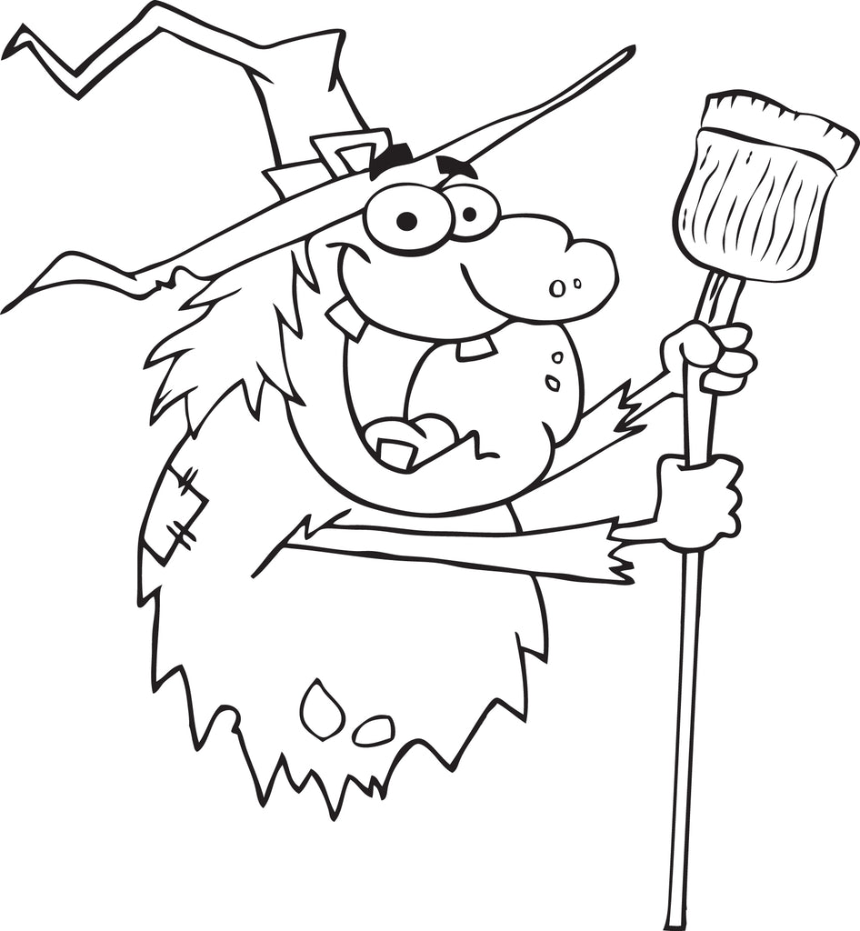 FREE Printable Halloween Witch Coloring Page for Kids #3 – SupplyMe