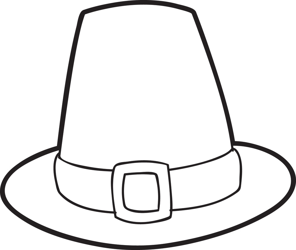 Zany image with pilgrim hat printable