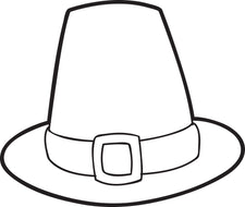 FREE Printable Pilgrim Hat Coloring Page For Kids