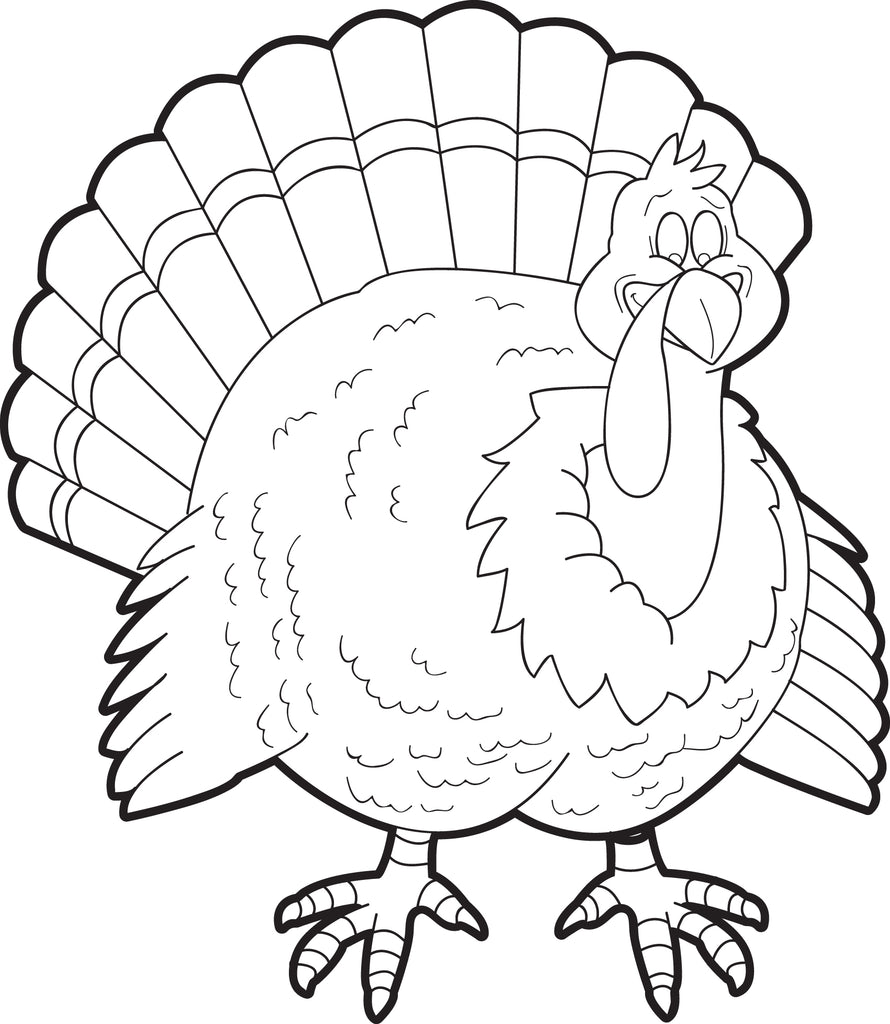 FREE Printable Turkey Coloring Page For Kids