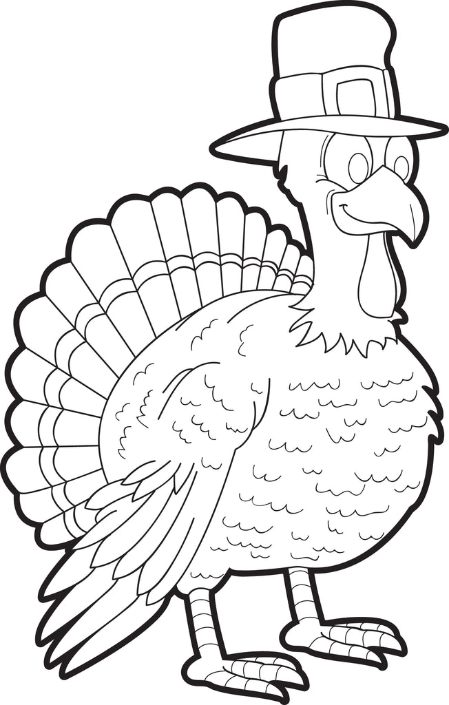 Printable Thanksgiving Turkey Coloring Page For Kids #6 – SupplyMe