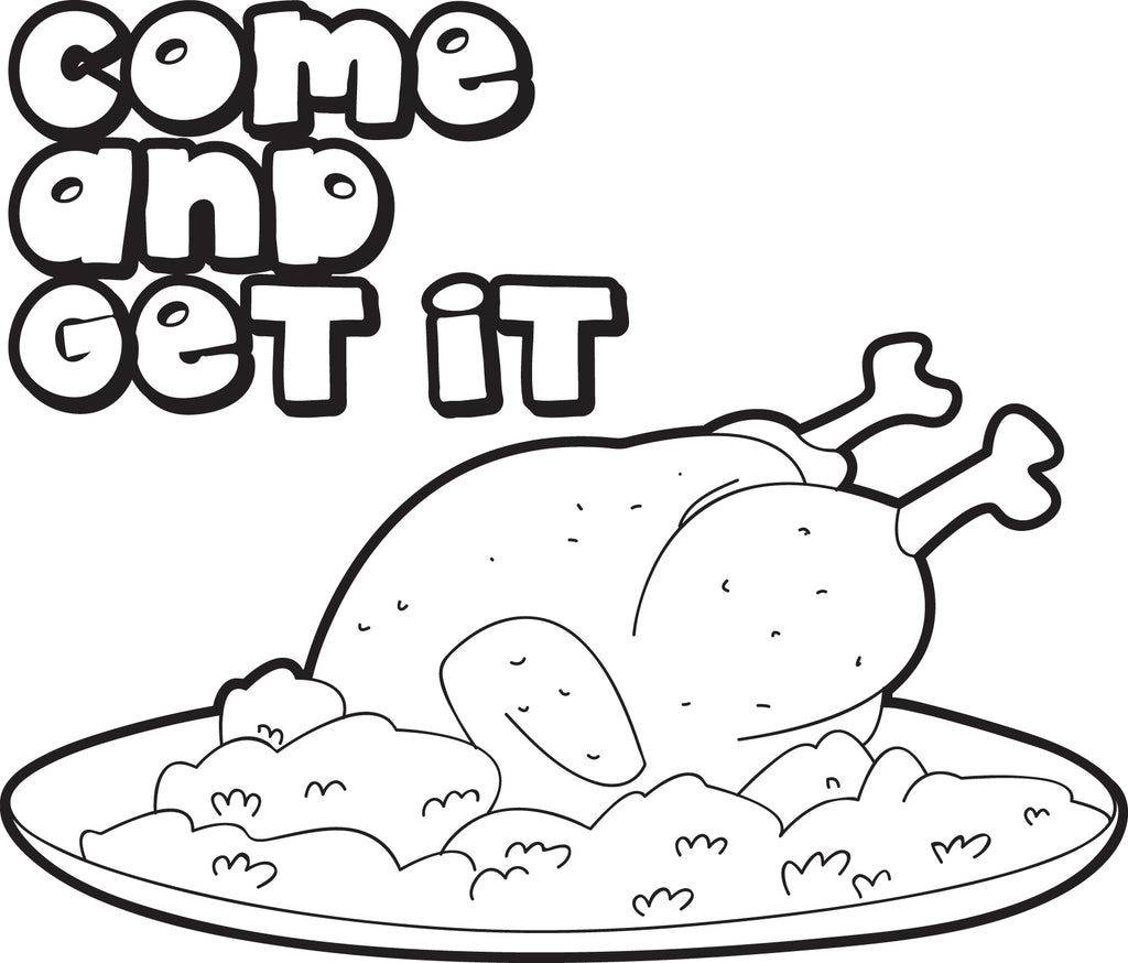 FREE Printable Cooked Thanksgiving Turkey Coloring Page For Kids ...