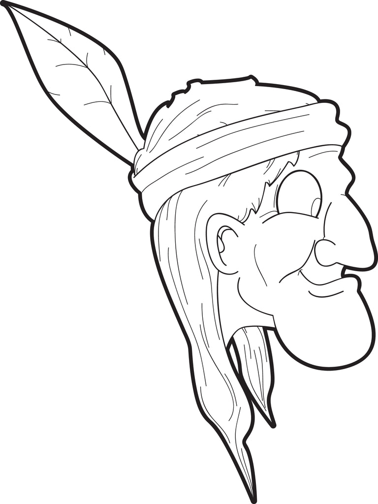 native american coloring pages printable Coloring4free ... | 1024x768