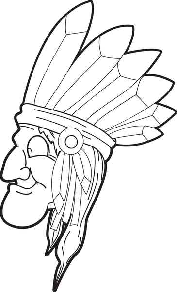 free printable native american coloring page for kids - thanksgiving coloring pages