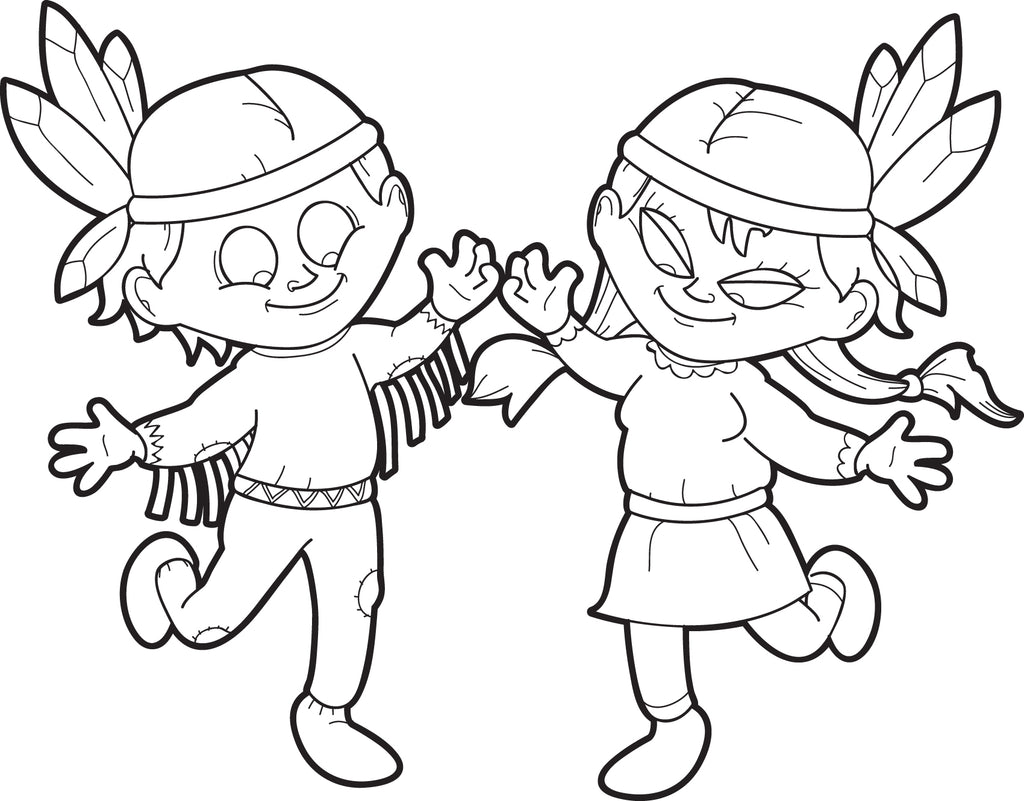 american indian kids coloring pages - photo#43