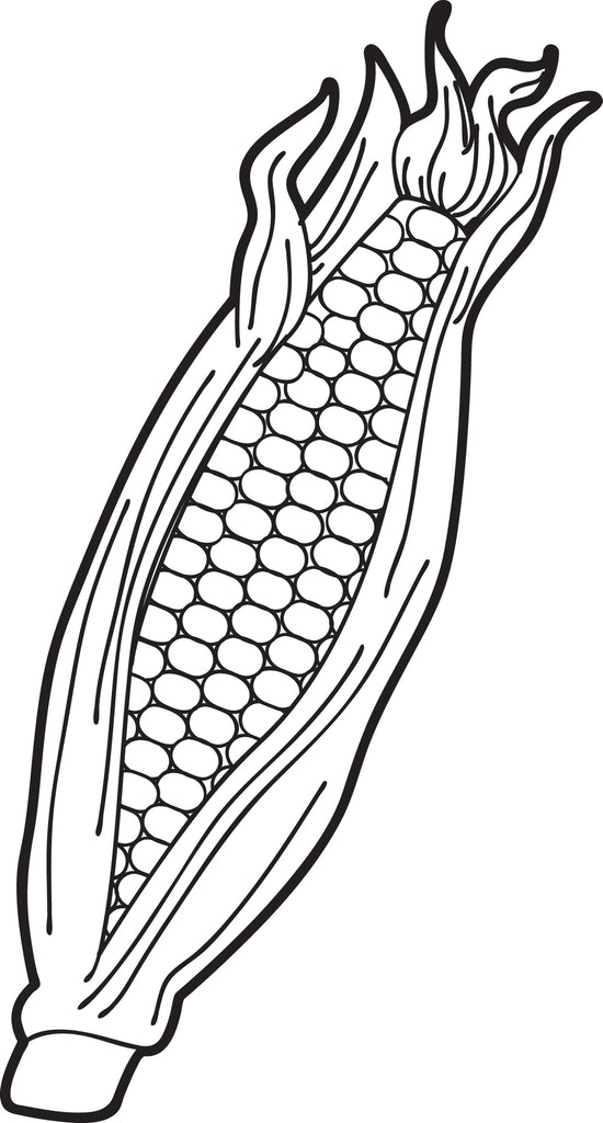 FREE Printable Ear of Corn Coloring Page for Kids SupplyMe