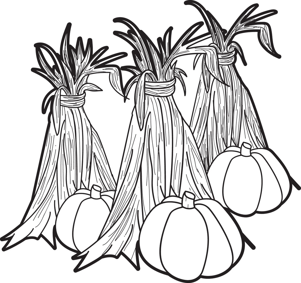 FREE Printable Pumpkins and Corn