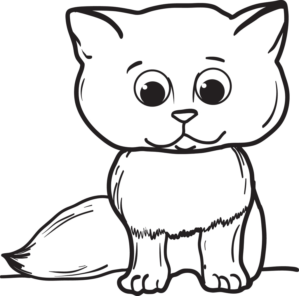 480 Cartoon Cat Coloring Pages Printable Pictures