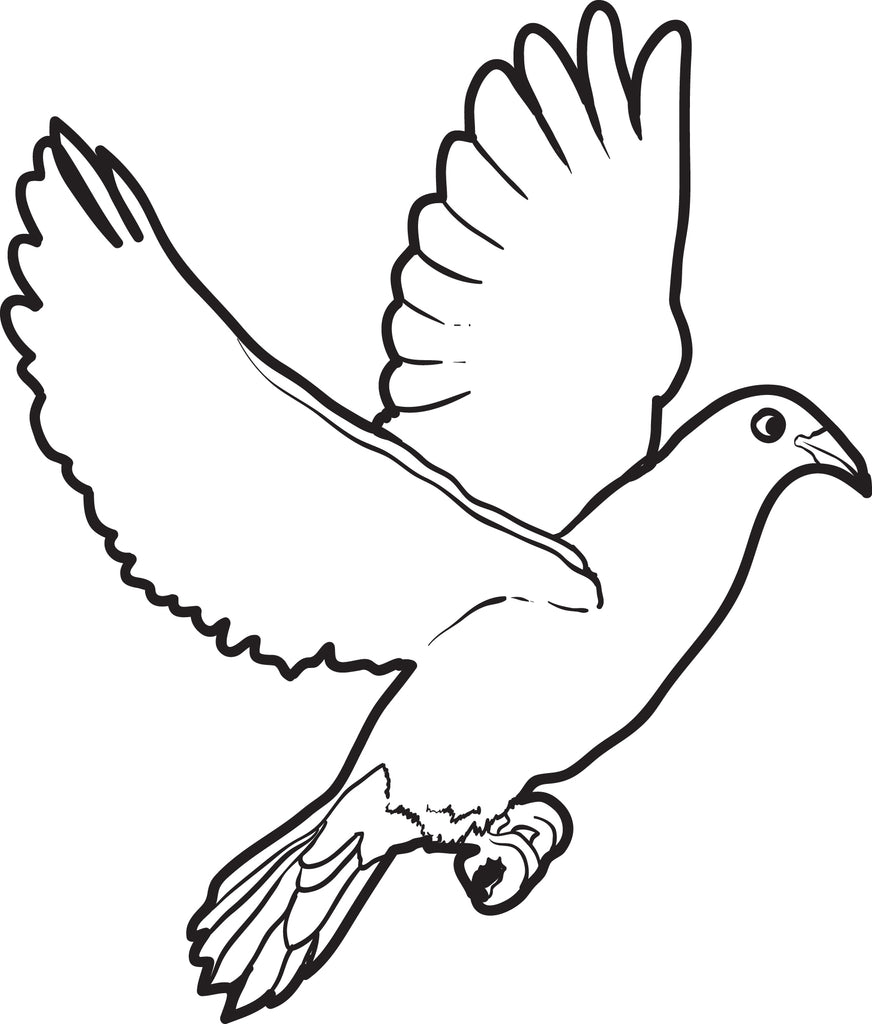 Free, Printable Dove Coloring Page for Kids