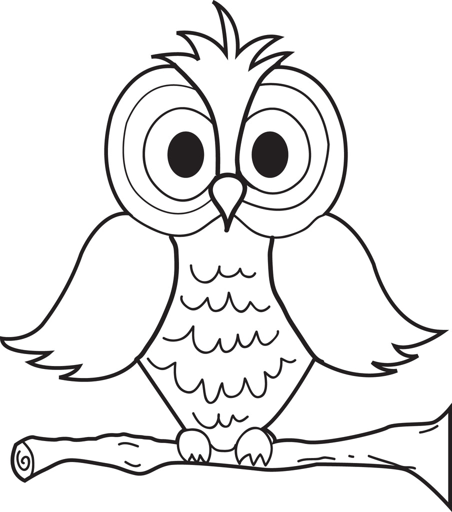 Free Printable Cartoon Owl Coloring
