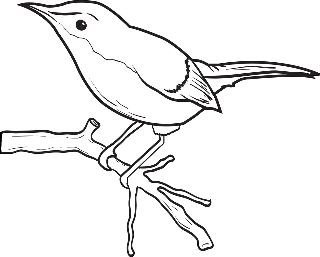 FREE Printable Little Birdie Coloring Page for Kids