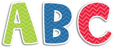 "Chevron Solids Uppercase 2"" Letter Stickers"