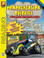 Remedia Publications Reading Comprehension Quickies Activity Book, 4th Grade Reading Level