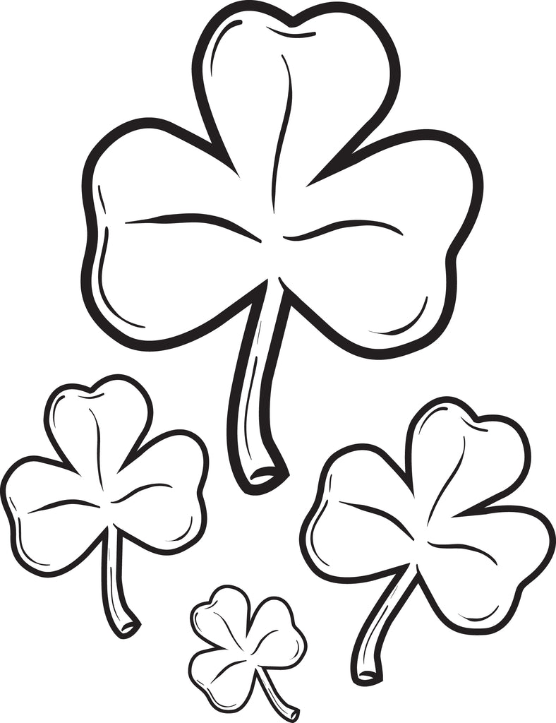 Free, Printable Shamrocks Coloring Page for Kids #2 – SupplyMe