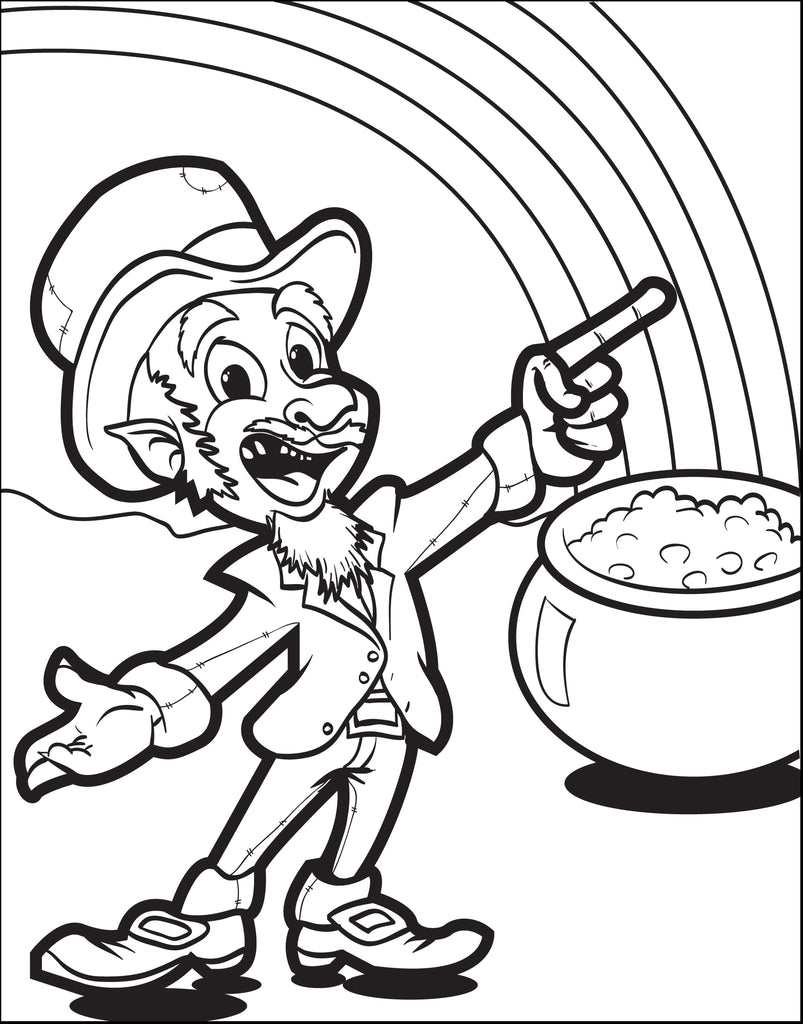Free Printable Leprechaun Coloring Pages For Kids | 1024x803