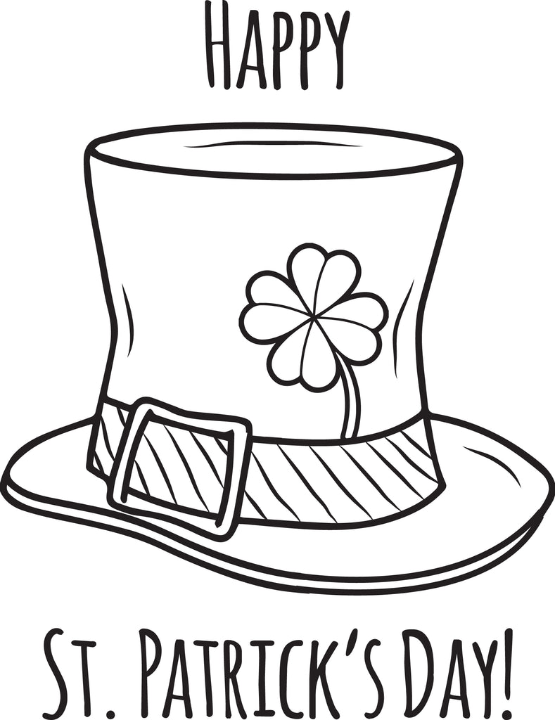 Printable Happy St. Patrick's Day Coloring Page for Kids ...