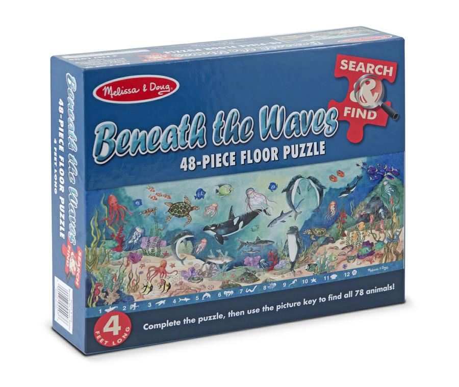 Search & Find Beneath The Waves Floor Puzzle, 48 Pieces