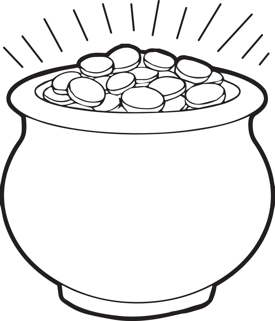 Free, Printable Pot of Gold Coloring Page for Kids – SupplyMe