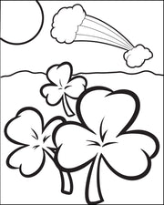 Shamrock Coloring Page #1