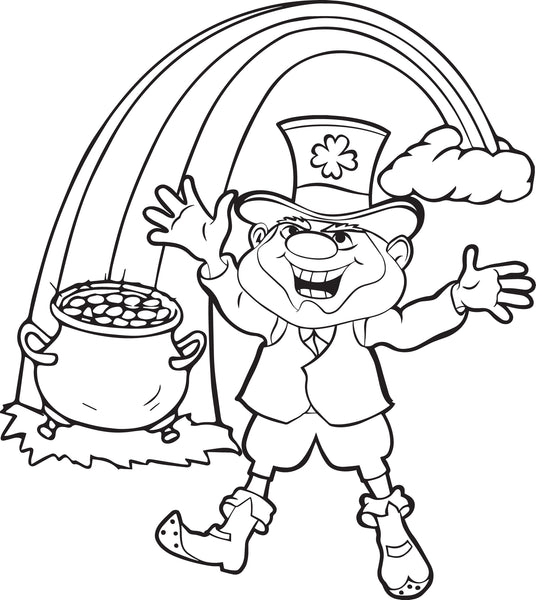 Free, Printable Leprechaun Coloring Page for Kids #3