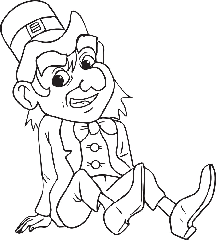 Free, Printable Leprechaun Coloring Page for Kids #4 – SupplyMe
