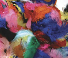 Feathers - Hot Colors - 125 Pieces