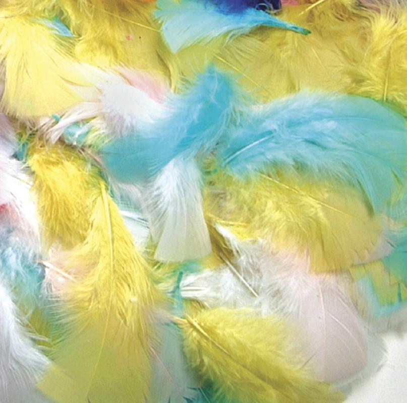 Feathers - Spring Colors - 125 Pieces