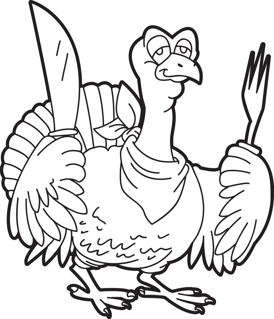 Free Printable Turkey Coloring Pages For Kids - Coloring Pages | 1024x882