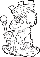 Cartoon King Coloring Page