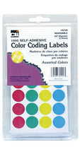 "Color Coding Dot Labels, 3/4"" Assorted Colors"