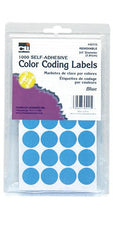"Color Coding Dot Labels, 3/4"" Blue"