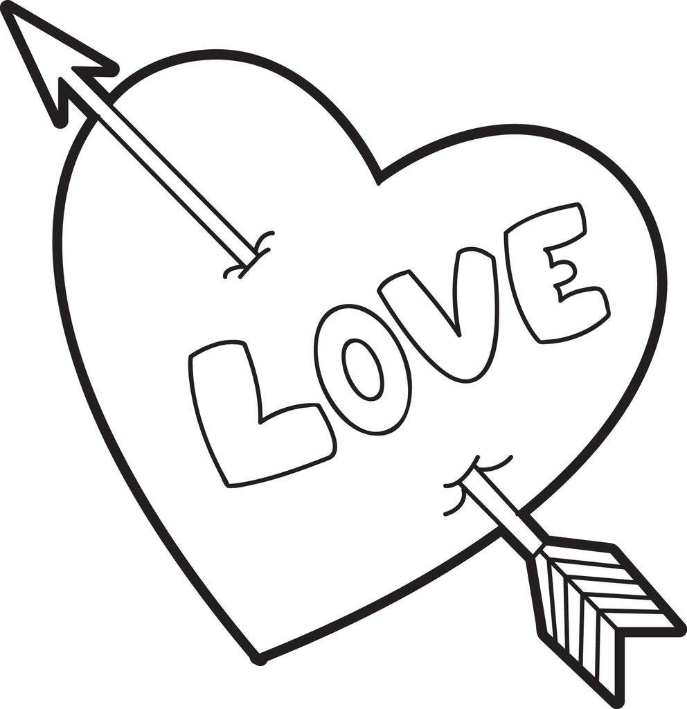 Free, Printable Valentine Heart Coloring Page for Kids