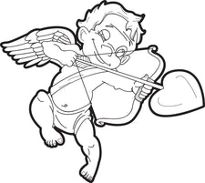 Cupid Coloring Page #1