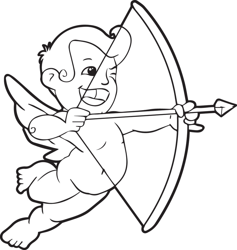 Free Printable Cupid Coloring Page For Kids 2 Supplyme