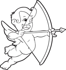 Cupid Coloring Page #2