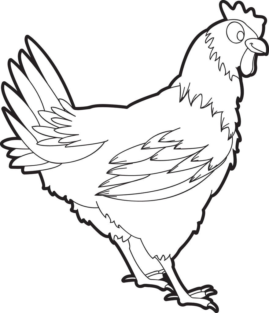FREE Printable Chicken Coloring Page for Kids